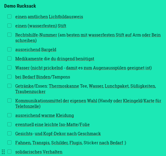 Demo-Rucksack