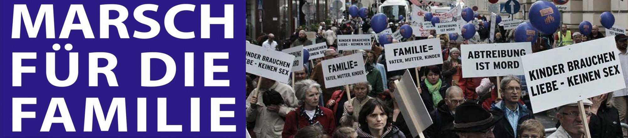 Bannerbild vom Marsch für die Familie