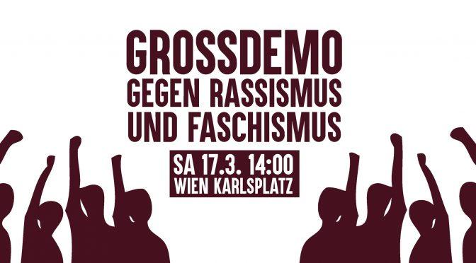 Großdemo: Gegen Rassismus und Faschismus