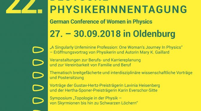 Deutsche Physikerinnentagung in Oldenburg